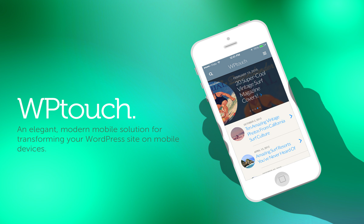 wptouch screenshot