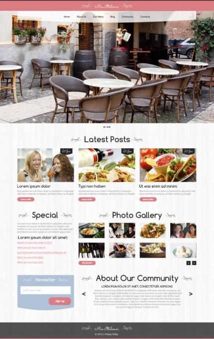 Restauracja szablon