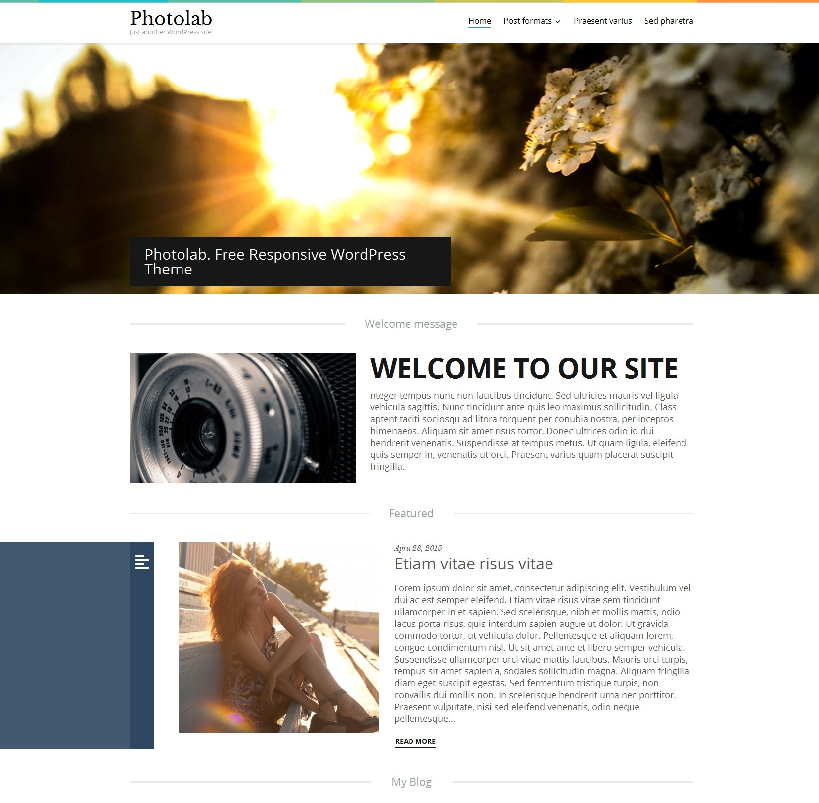 Photo Lab Responsive WordPress Theme